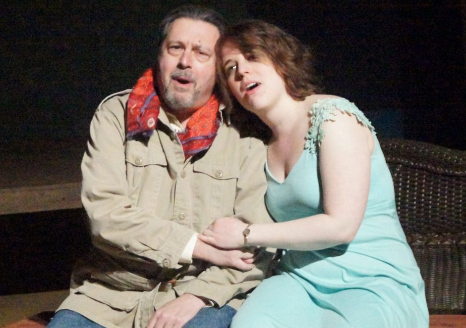 Heather-Liz Copps is Nellie Forbush and Steve Leifer plays Emile de Becque in the Schenectady Light Opera Company production of 'South Pacific,' opening Friday night. (Shawn Morgan)