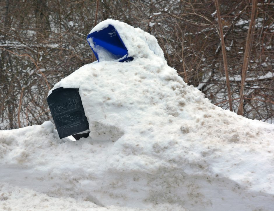 Snow covered mailbox along Rynex Corners Rd. in Pattersonville on Tuesday morning.