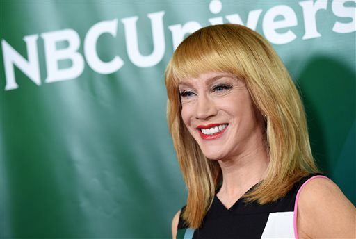 """In this Jan. 15, 2015 photo, Kathy Griffin of the E! show """"Fashion Police"""" poses at the NBCUniversal Cable 2015 Winter TCA Press Tour at The Langham Huntington Hotel, in Pasadena, Calif."""