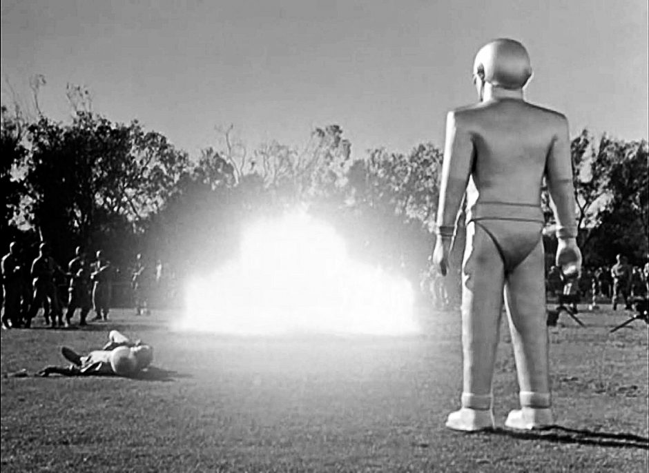 The alien robot Gort shows off his power in a scene from 'The Day the Earth Stood Still,' which will play Proctors' GE Theatre on Friday.