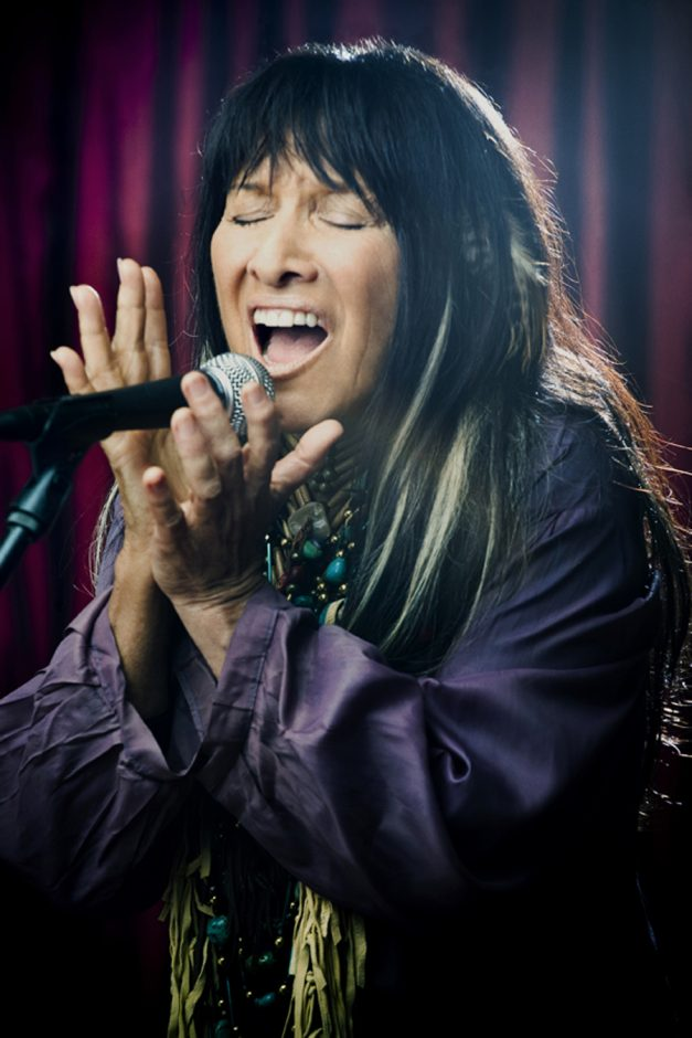 Legendary folk singer Buffy Sainte-Marie will be at the Eighth Step at Proctors GE Theatre on Saturday.