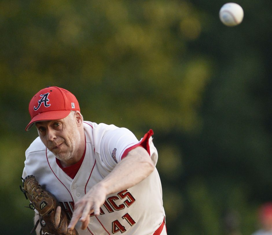 At the age of 41, J.J. Pearsall, a graduate of Burnt Hills-Ballston Lake High School, is still a starting pitcher in the Albany Twilight League.