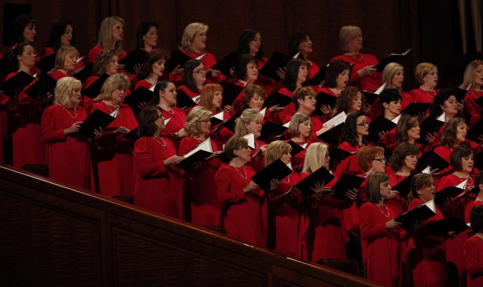 The Mormon Tabernacle Choir will perform at SPAC on Monday as part of the group's tour of the Northeast.