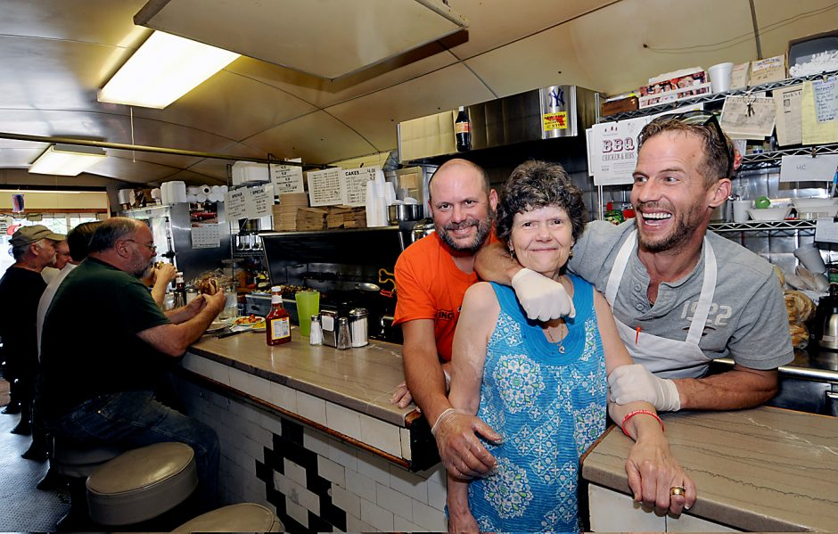 Longtime owners of the Palace Diner located at 63 South Main St. in Gloversville, are Jackie Sena, center, and her two sons, Tony, left, and Richard.