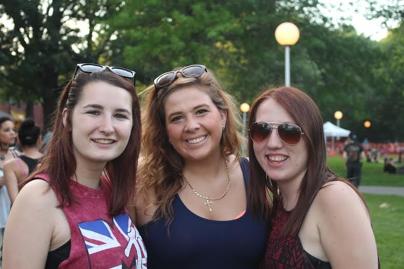 Friends Erin McGeary, Alicia Ceneviva and Nicole Bulger were together at the Boys of Zummer concert at SPAC.