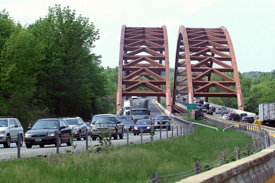 The Twin Bridges that span the Mohawk River in Saratoga County are pictured on Monday, May 20, 2013.