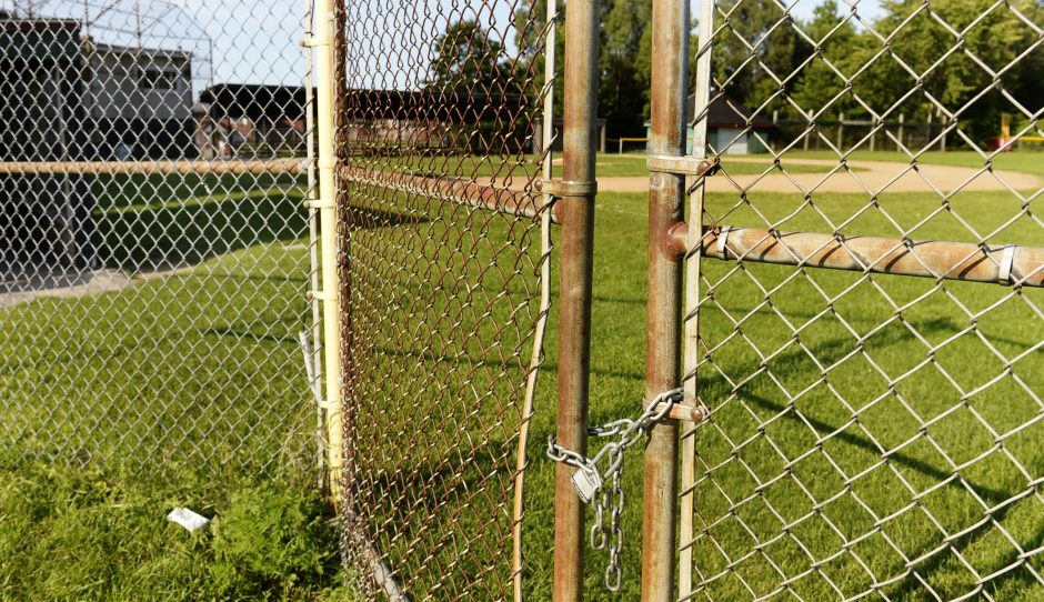 The field at Northside Little League is padlocked Wednesday near Yates Village. Schenectady Little League was supposed to host a bi-district game against Saratoga National on Tuesday.