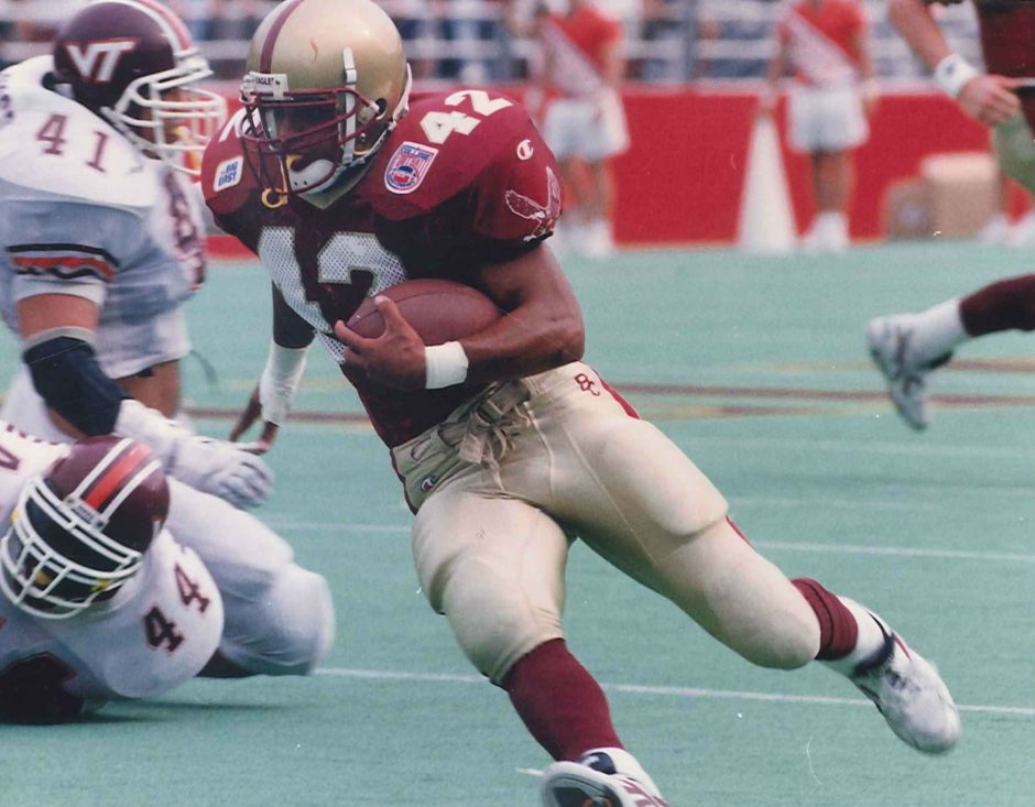 Justice Smith, a graduate of Amsterdam High School, is shown during his playing days at Boston College. (Courtesy Boston College Athletic Communications).