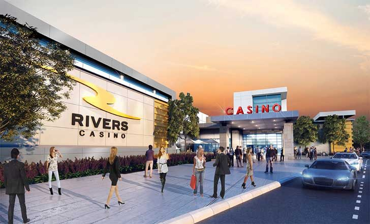 The most recent rendering of the proposed Rivers Casino at Mohawk Harbor in Schenectady, released July 9.