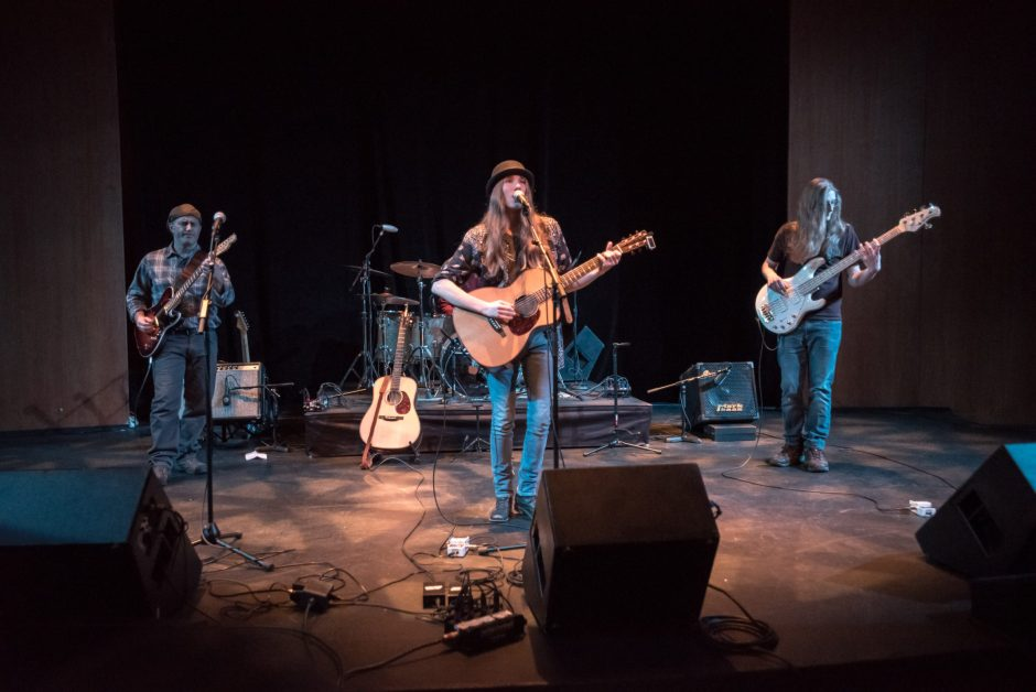 Sawyer Fredericks performs for a sold-out crowd at the Egg in Albany on Sunday Dec. 4, 2016.