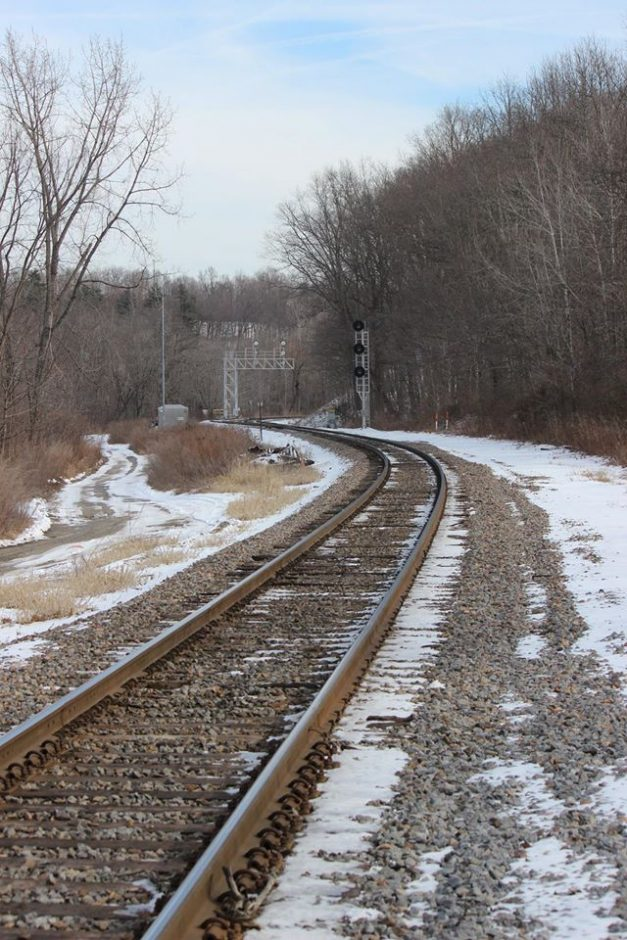 Railroad tracks heading toward Mechanicville are seen Feb. 12 from Coons Crossing Road in Halfmoon.