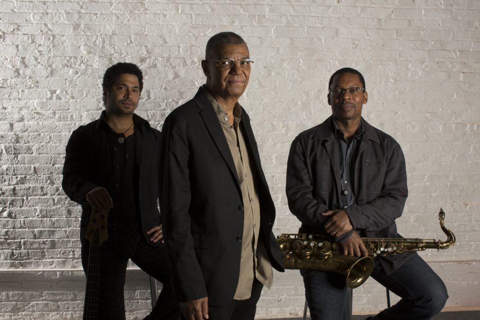 JackDeJohnette, foreground, with Ravi Coltrane and Matt Garrison