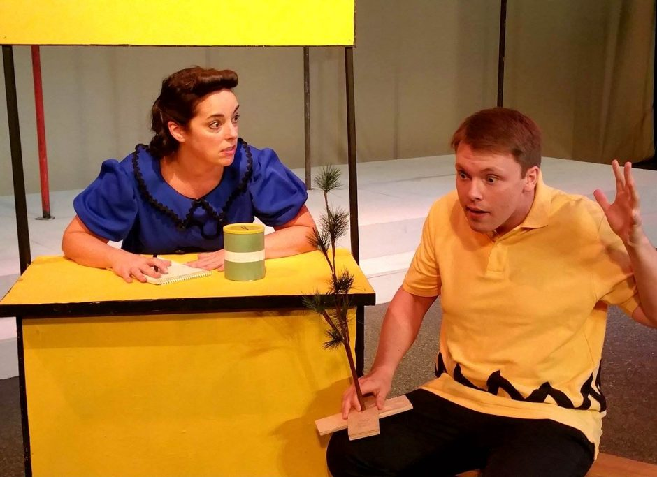 "Rebeca Rodriguez as Lucy and Aaron M. Lambert as Charlie Brown in ""A Charlie Brown Christmas."""