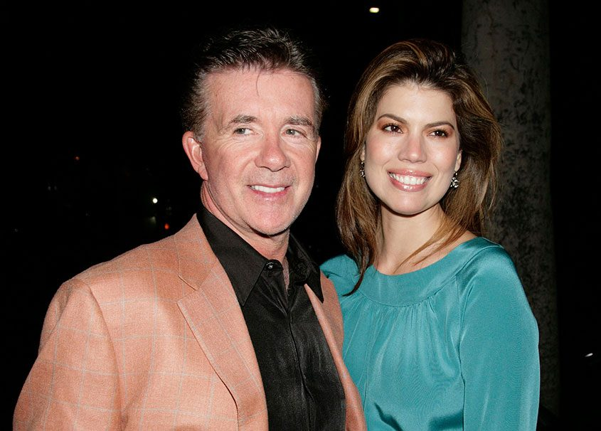 Alan Thicke with his wife, Tanya Callau, in 2007.
