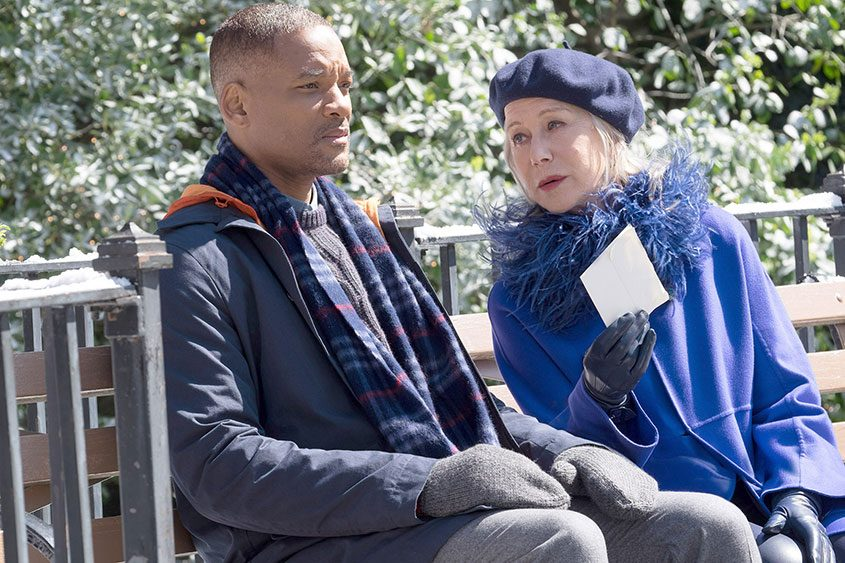 """Will Smith and Helen Mirren in """"Collateral Beauty."""""""