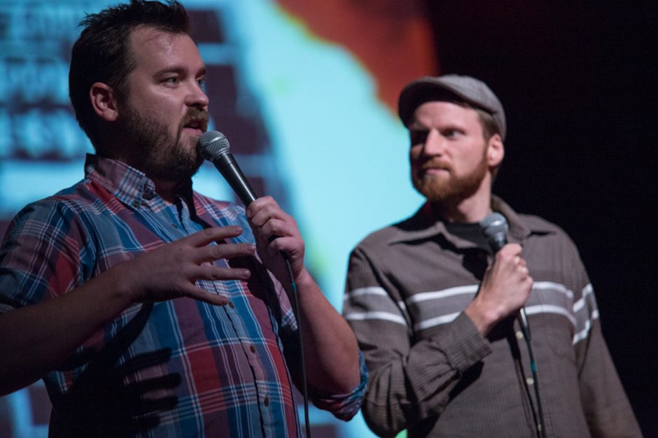 Joe Pickett and Nick Prueher organize the Found Footage Festival