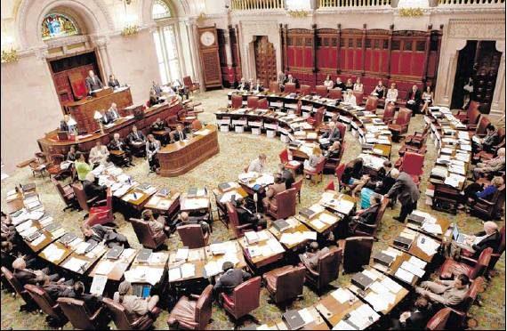 The New York state senate chambers