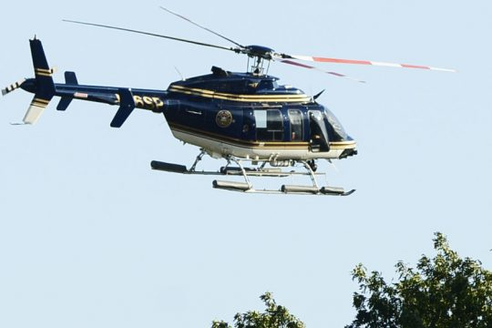 A state police helicopter: 2015.