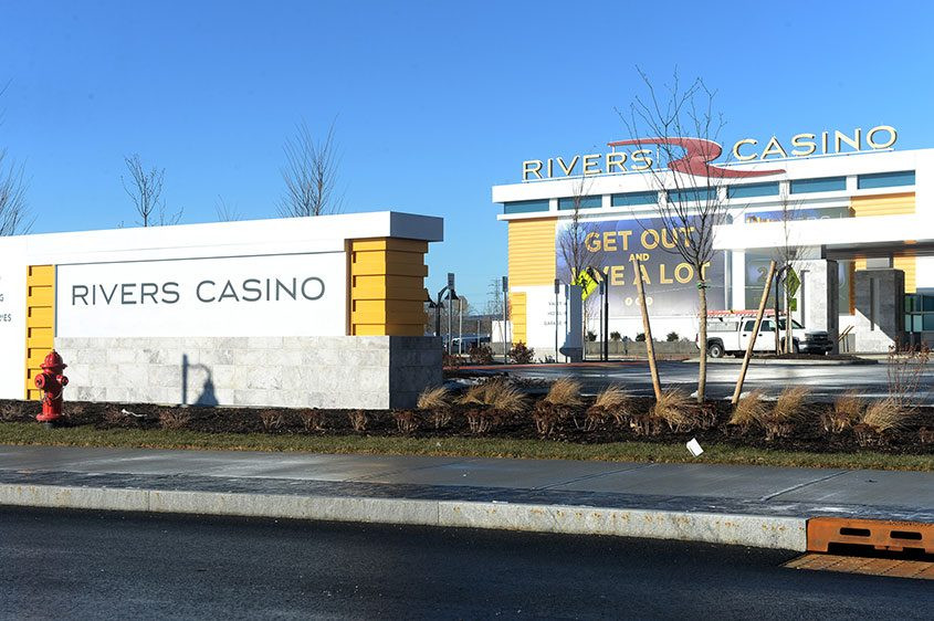 The entrance to Rivers Casino and Resort.
