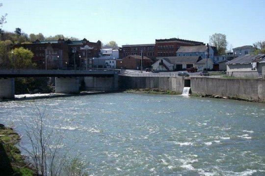 The village of Hoosick Falls.