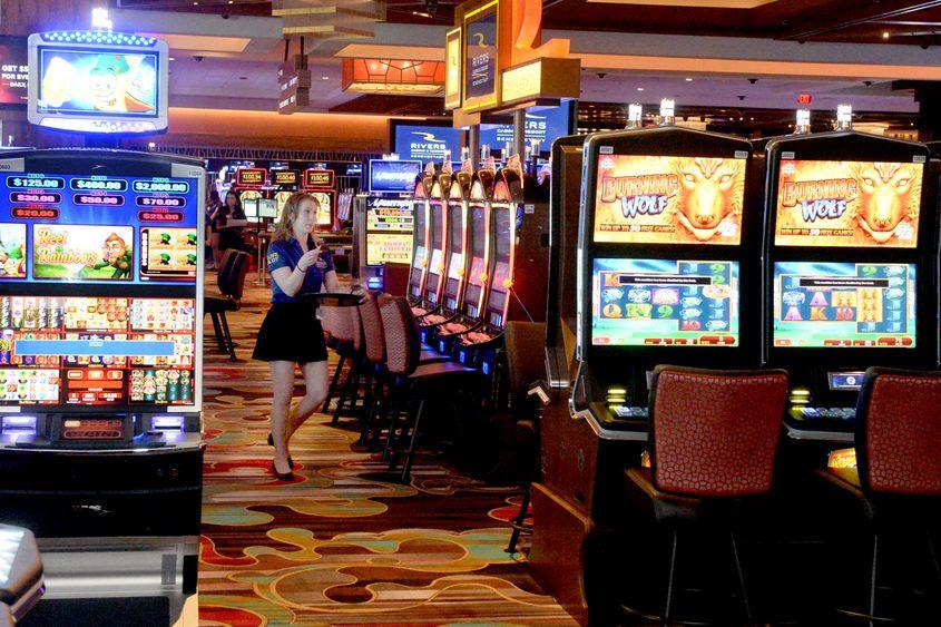 Inside Rivers Casino and Resort on Wednesday, Feb. 1, 2017.