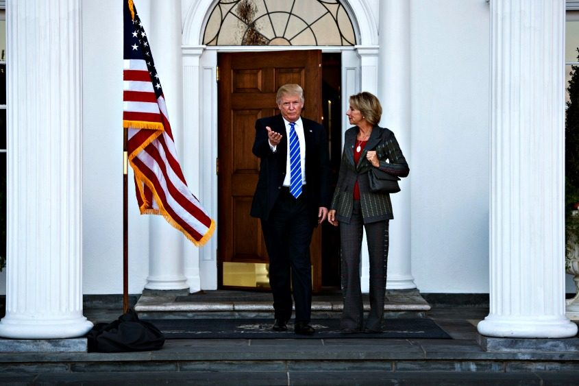 Betsy DeVos with then President-elect Donald Trump in November.