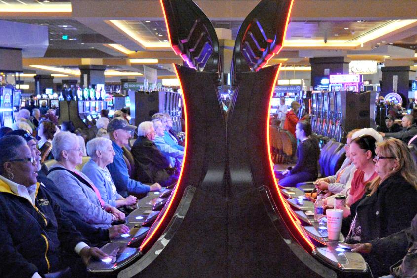 The main gambling floor at Rivers Casino in Pittsburgh on April 30, 2015.