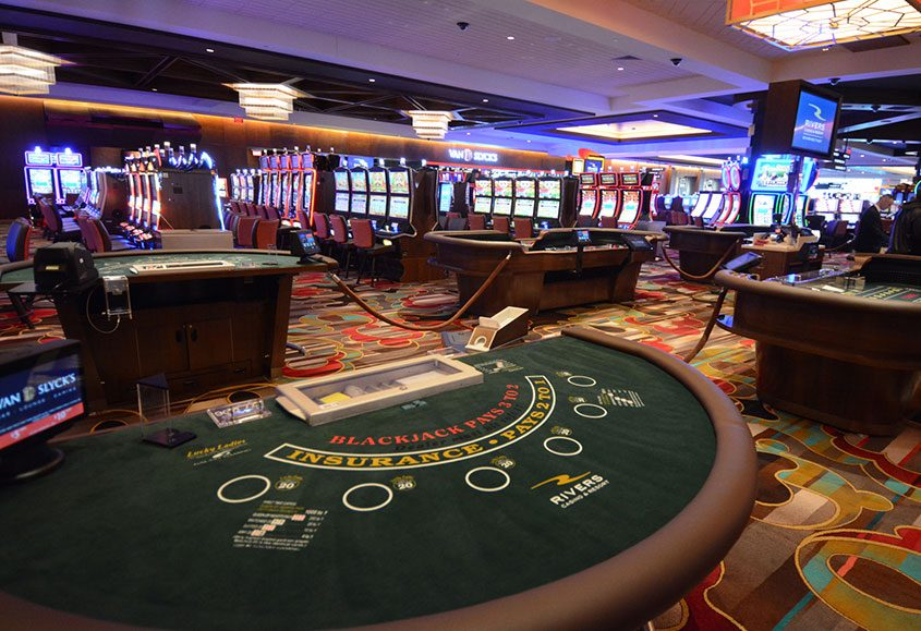The gaming floor inside Rivers Casino in Schenectady on Feb. 1, 2017.