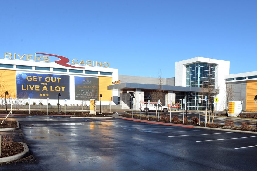 Entrance to Rivers Casino & Resort.