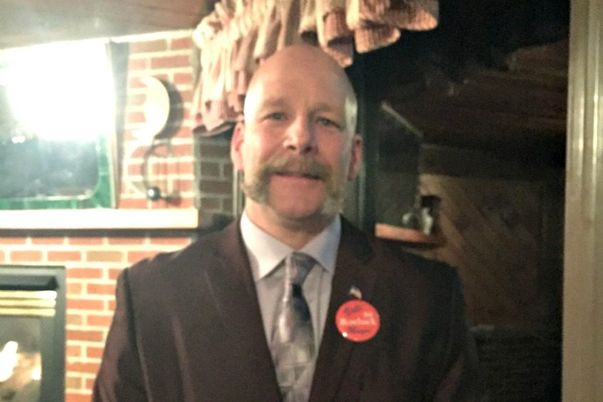 Bill Rowback Jr., a 28-year veteran of the Gloversville Fire Department, announced his candidacy for city mayor on Wednesday.