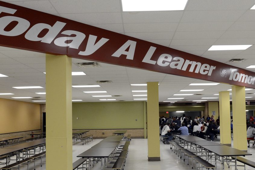 The Schenectady High School cafeteria in September 2013.