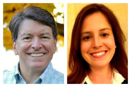 Republican Reps. John Faso and Elise Stefanik.
