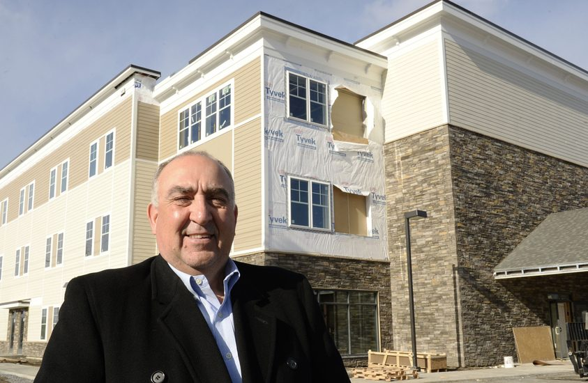 Louis Lecce stands in front of the Albany Medical Center Urgent Care building at 1769 Union St. in Niskayuna.
