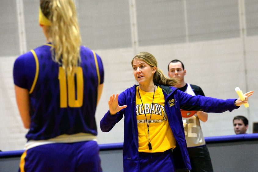 University at Albany women's basketball coach Joanna Bernabei-McNamee has her team clicking after a transition period.