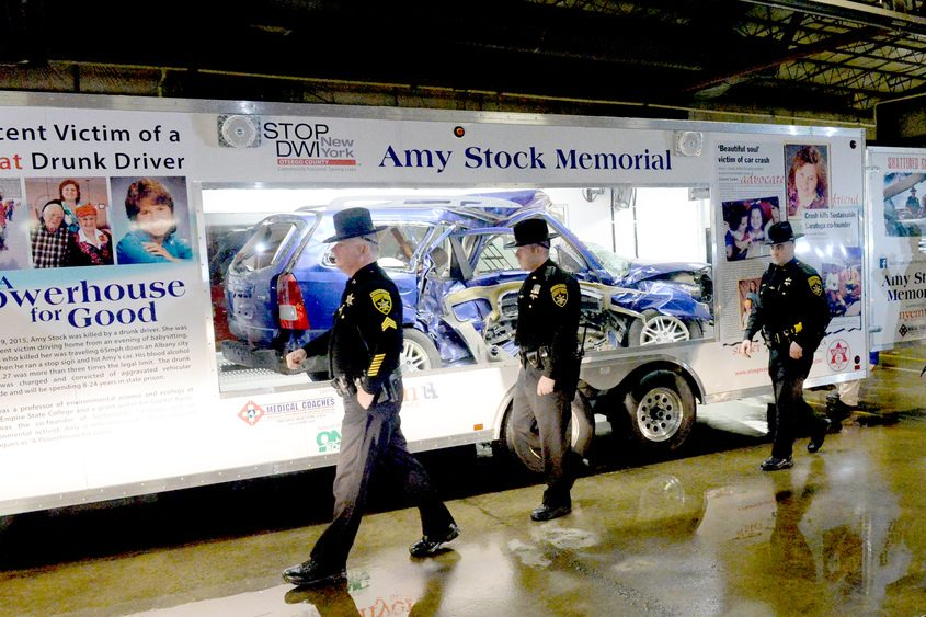 The Amy Stock Memorial Trailer was welcomed to Saratoga County on Monday, March 13, 2017.