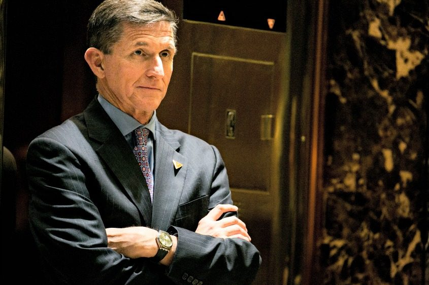 Michael Flynn at Trump Tower in New York on Dec. 12, 2016.