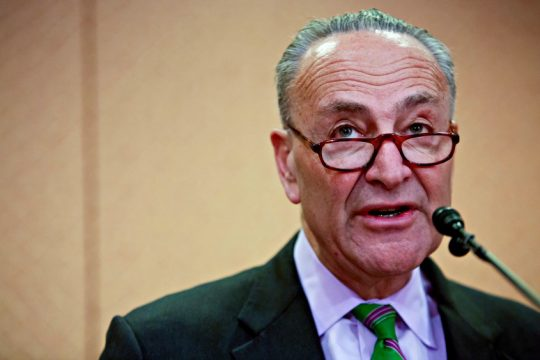 Senate Minority Leader Chuck Schumer (D-N.Y.) during a news conference on Capitol Hill in Washington on March 15, 2017.