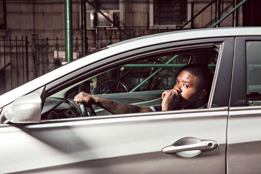 Khalir Newton, 27, a driver for Uber, in New York on Sept. 1, 2016.