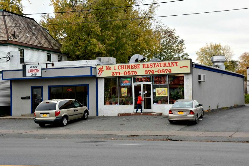 Midtowne Laundry Center and No. 1 Chinese Take Out Restaurant, at 1122-1124 State St., in 2014.