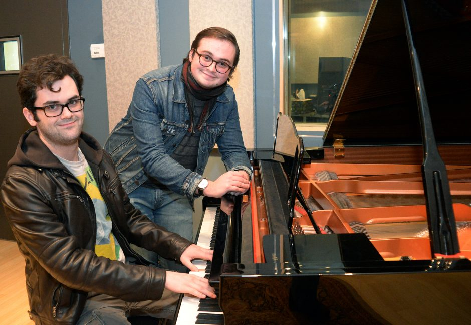John Carroll, left, and Peter Fitzgerald are music students at SCCC.
