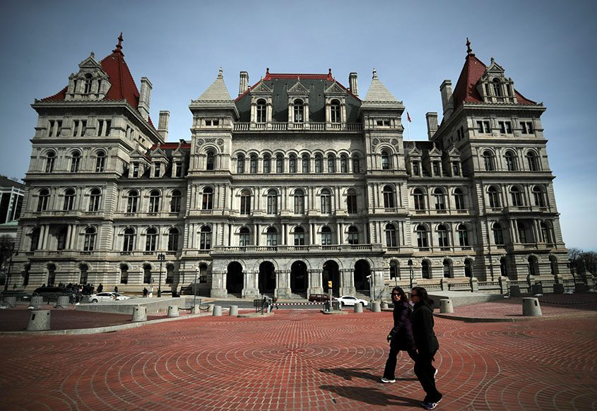 The state Capitol in Albany, where the Legislature holds its sessions March 13, 2017.