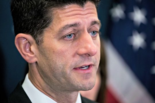 House Speaker Paul Ryan speaks at a news conference about plans to continue an effort to repeal the Affordable Care Act.