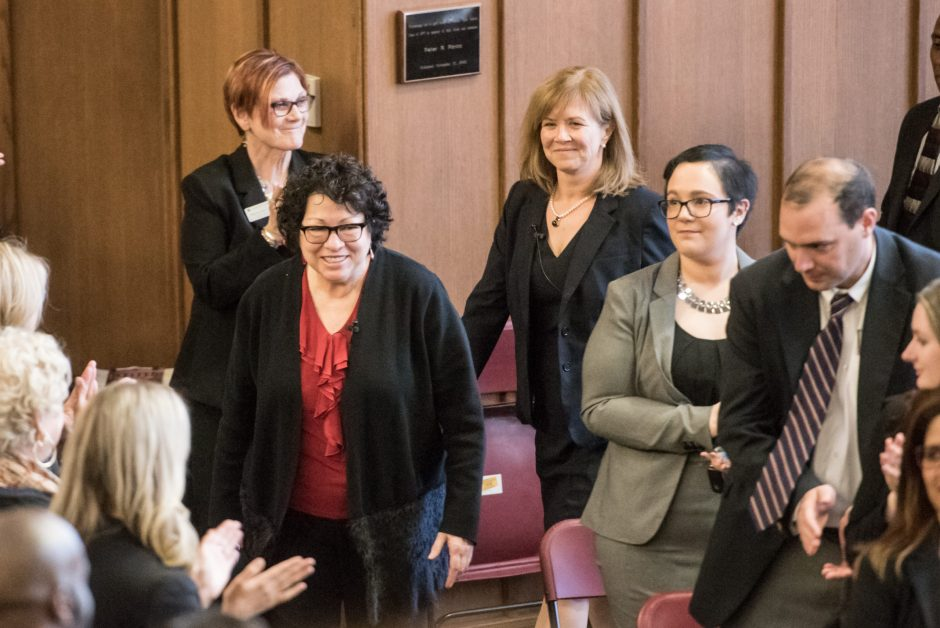 Supreme Court Justice Sonia Sotomayer speaks at Albany Law School on Monday.