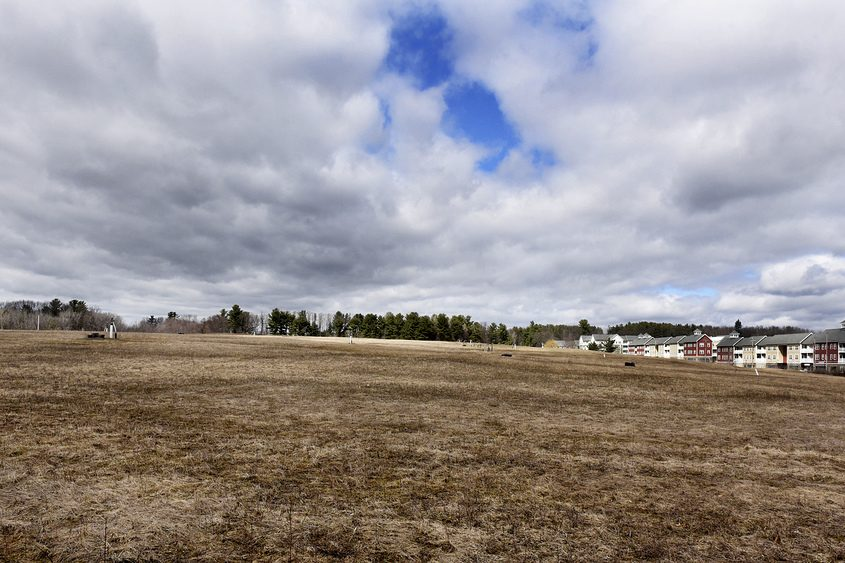 Property for the new Spa Solar Park at the city landfill in Saratoga Springs on Wednesday, April 5, 2017.