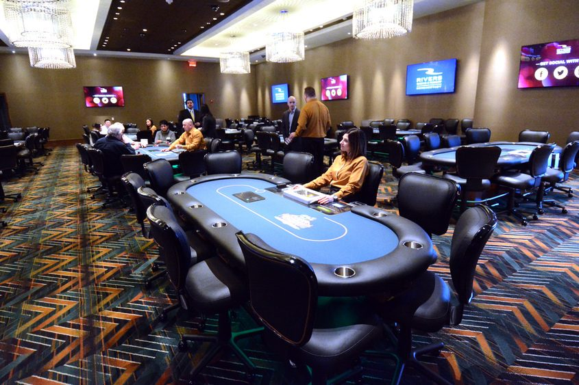 Poker room at Rivers Casino & Resort in Schenectady.