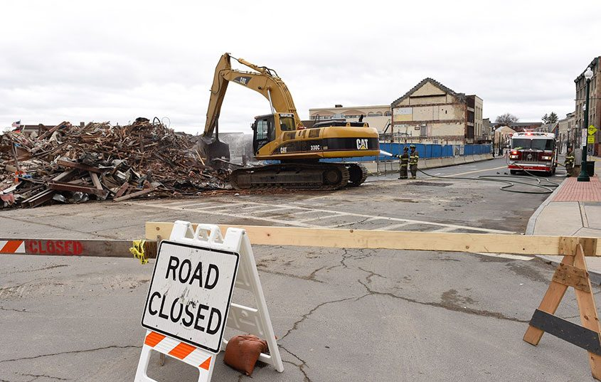 The Nicholaus Building was torn down in Schenectady.