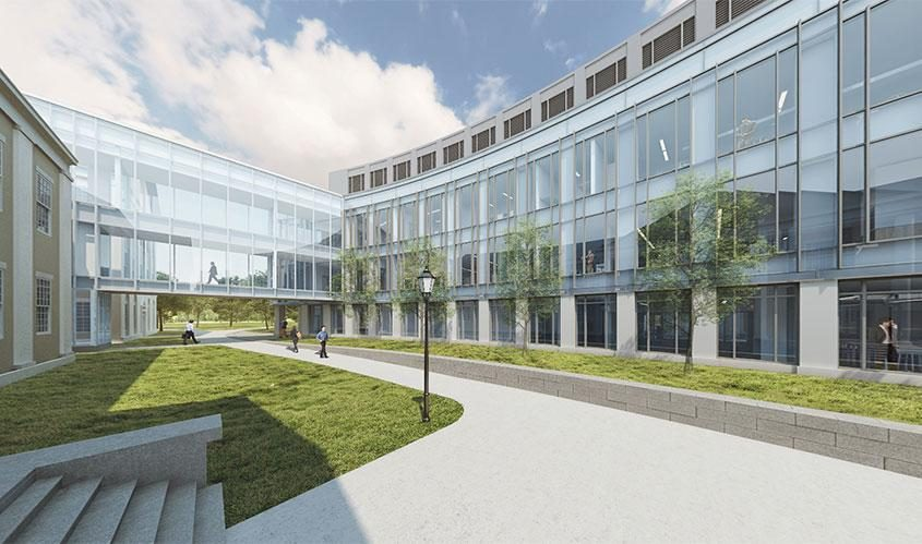 A rendering of the proposed science and engineering center at Union College.
