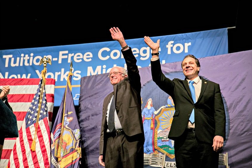 Sen. Bernie Sanders (I-Vt.) and New York Gov. Andrew Cuomo announce a proposal to make state colleges tuition-free.