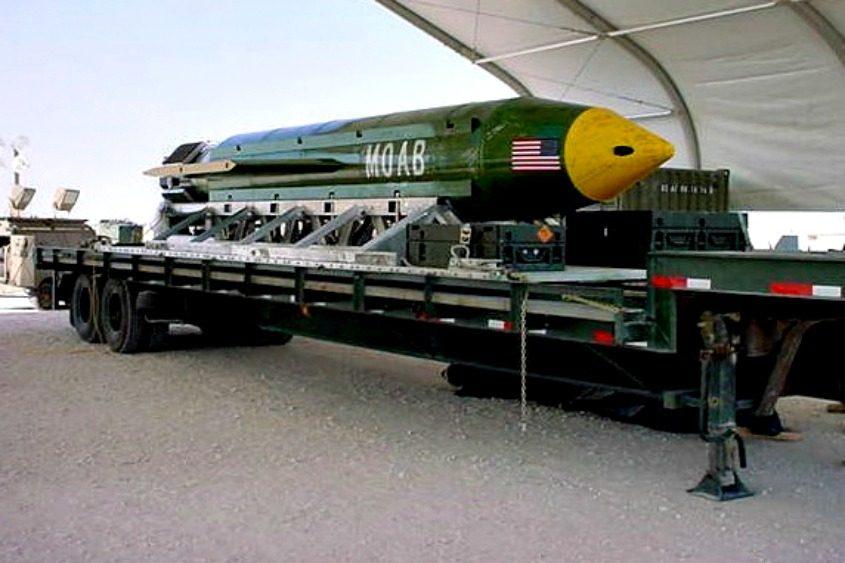 "The GBU-43/B Massive Ordnance Air Blast bomb, nicknamed the ""mother of all bombs."""