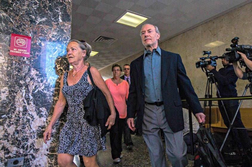 Julie and Stanley Patz, parents of Etan Patz, arrive to the sentencing of Pedro Hernandez in Etan's 1979 murder.